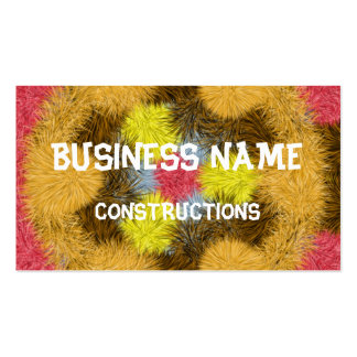 Colorful furry kaleidoscope Double-Sided standard business cards (Pack of 100)