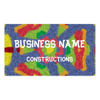 Colorful furry pattern Double-Sided standard business cards (Pack of 100)