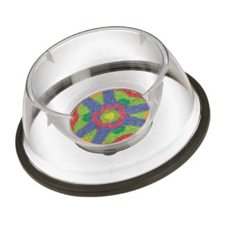 Colorful furry pattern pet bowl