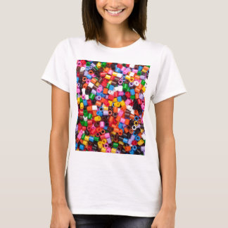 Colorful fusible plastic beads T-Shirt