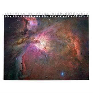 colorful galaxy calendars