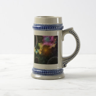 Colorful Galaxy Explosion Beer Stein