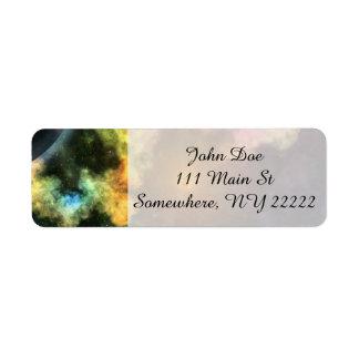Colorful Galaxy Explosion Return Address Label