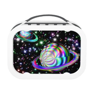 Colorful Galaxy Lunch Box
