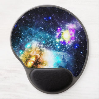 Colorful galaxy space nebula stars illustration gel mouse pad