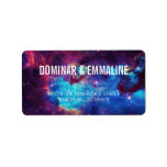 """Colorful Galaxy Wedding Address Labels<br><div class=""""desc"""">For the couple whose love story is written among the stars... galaxy themed wedding address labels are sure to catch everyone&#39;s eye! Text details are customizable and are over a space background in purple,  pink,  blue,  yellow,  and white</div>"""