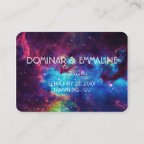 Colorful Galaxy Wedding Place Cards