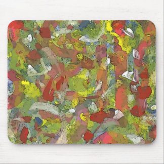 Colorful Game Abstract Hand-painted Pattern Mouse Pad