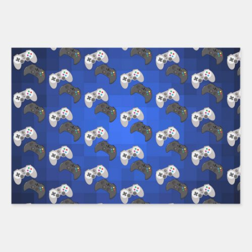 Colorful Gamer Video Game Wrapping Paper Sheets