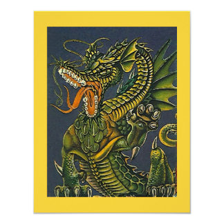 COLORFUL GAMING-STYLE DRAGON ~ PARTY INVITATION