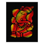 Colorful Ganesha Canvas Oil Painting Poster