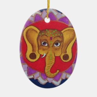 Colorful Ganesha Ceramic Ornament