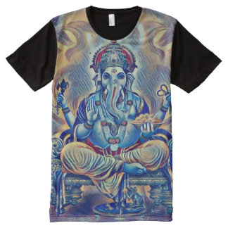 Colorful Ganesha God Airbrush Indie Art All-Over-Print T-Shirt