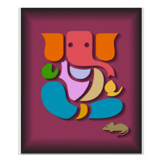 Colorful Ganesha Poster