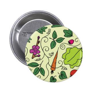 Colorful Garden 2 Inch Round Button