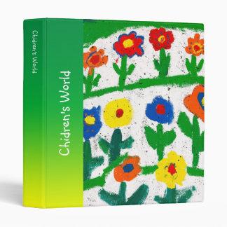 Colorful garden 3 ring binder