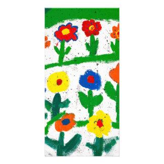 Colorful garden card