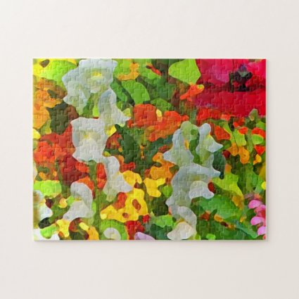 Colorful Garden Flowers Jigsaw Puzzle