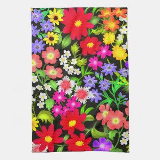 Colorful Garden Flowers Kitchen Towel