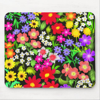 Colorful Garden Flowers Mousepad