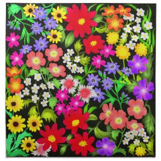 Colorful Garden Flowers Napkins