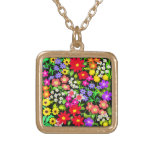 Colorful Garden Flowers Necklace
