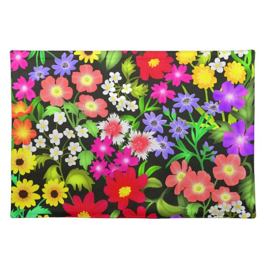 Colorful Garden Flowers Placemats