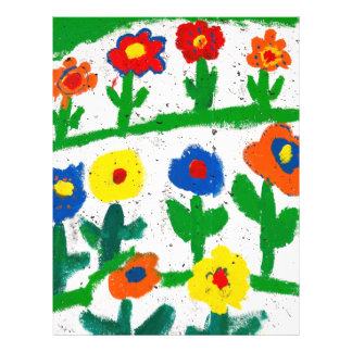 Colorful garden flyer