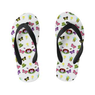 Colorful Garden Kids Flip Flops