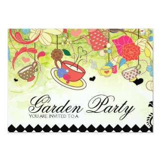 Colorful Garden Party Bridal Shower Invitation