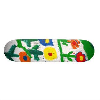 Colorful garden custom skate board