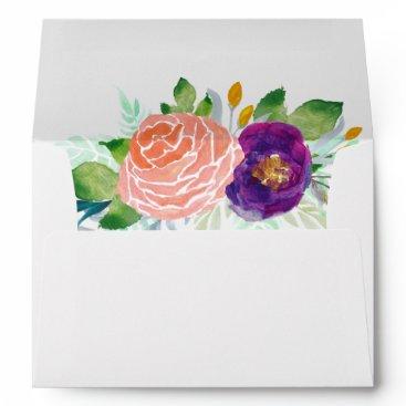 oasis_landing Colorful Garden Watercolor Floral Envelope