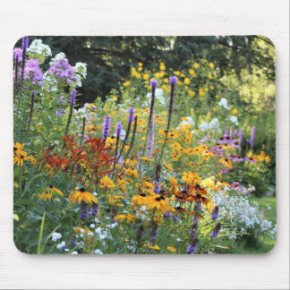 Colorful Gardens Along the Pathways Mouse Pad
