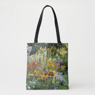 Colorful Gardens Along the Pathways Tote Bag