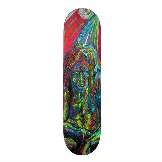 Colorful Gargoyle SciFi Winged Creature skateboard
