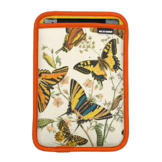 Colorful Gathering of Butterflies and Caterpillars Sleeve For iPad Mini