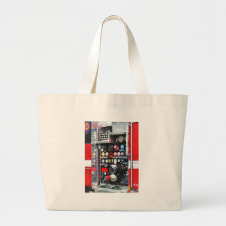 Colorful Gauges on Fire Truck Large Tote Bag