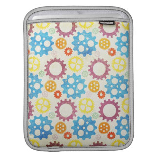 Colorful Gears Grunge iPad Sleeve