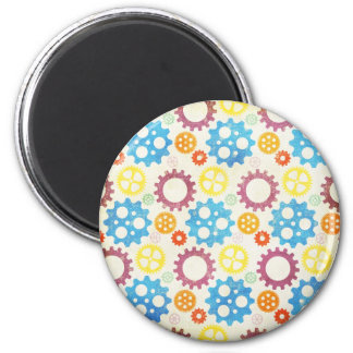 Colorful Gears Grunge Magnet