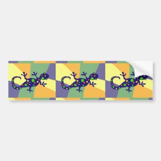 Colorful Gecko Art Car Bumper Sticker