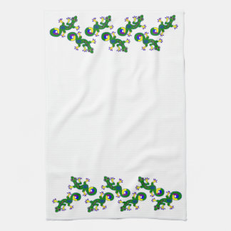 Colorful Gecko Lizards Hand Towel