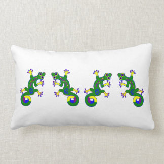 Colorful Gecko Throw Pillow