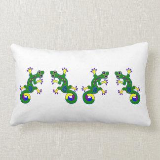 Colorful Gecko Throw Pillow
