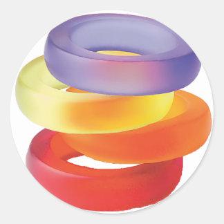 Colorful Gel Bracelets Classic Round Sticker