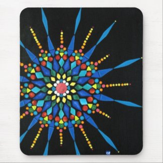 Colorful Gemstones Mosaic Mouse Pads