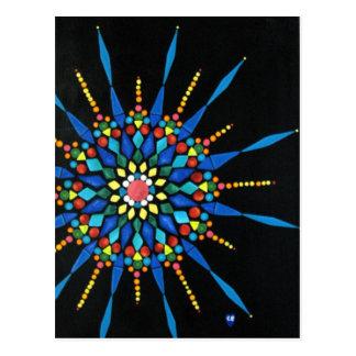 Colorful Gemstones Mosaic Postcards