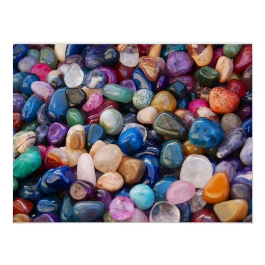 Colorful Gemstones Poster
