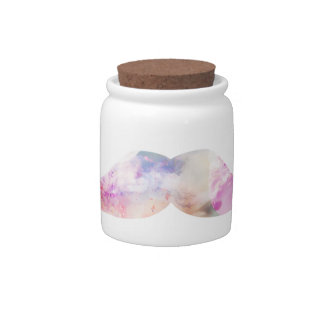Colorful gentelman mustaches hipsters candy jar