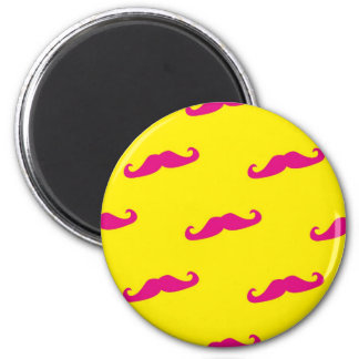 Colorful gentelman mustaches hipsters neon magnet