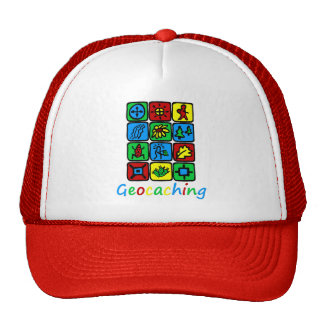 Colorful Geocaching Trucker Hat